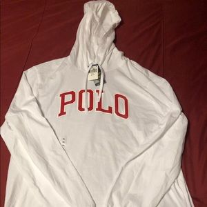 New White Ralph Lauren Polo Sweatshirt